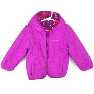 Columbia Girl's Coat 4T Reversible